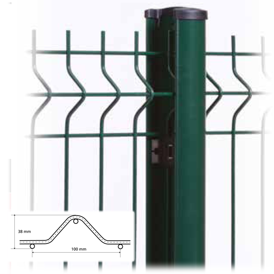 Cl ture en panneaux de treillis soud s pour jardins en - Diametre treillis soude pour terrasse ...