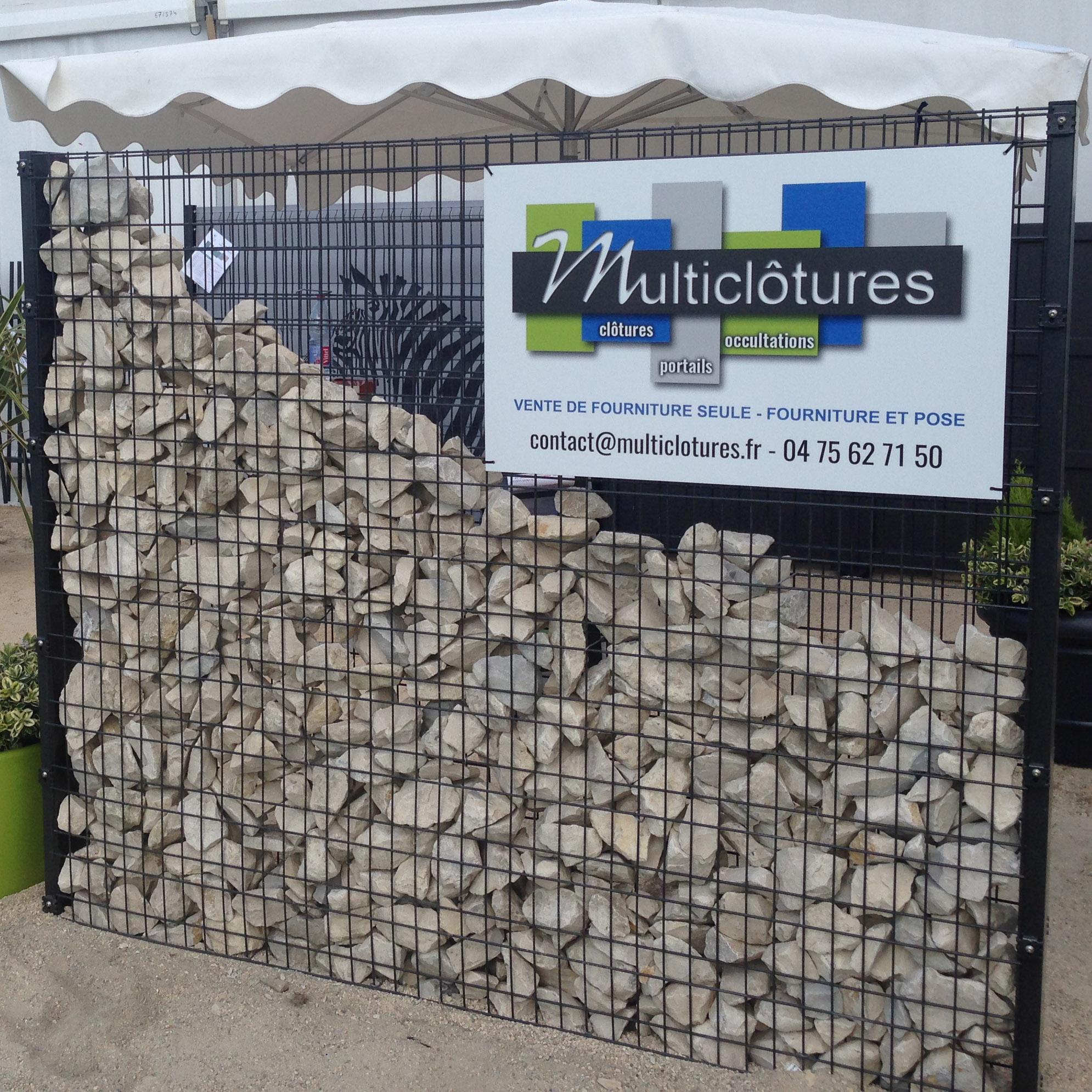 Clôture en gabion pour maisons et résidences - Multiclotures